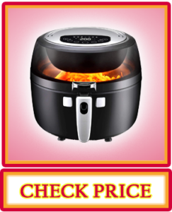 NutriChef Digital Air Fryer 6.8 Qt XXL