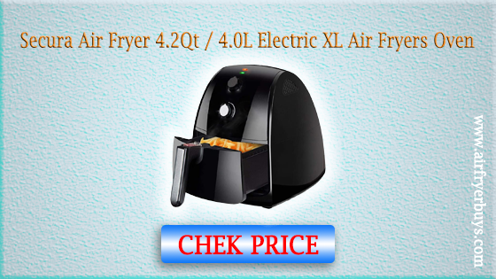 Secura Air Fryer 4.2Qt / 4.0L 1500-Watt Electric Hot XL Air Fryers Oven
