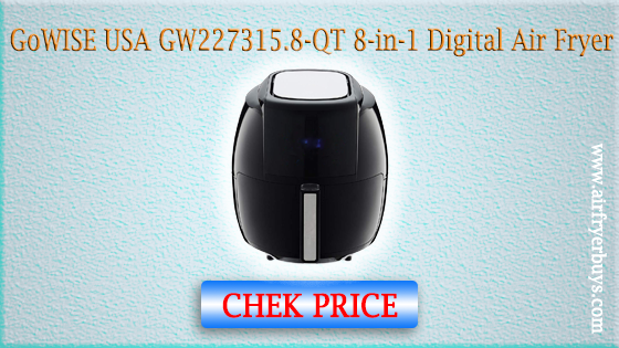 GoWISE USA GW22731 1700-Watt 5.8-QT 8-in-1 Digital Air Fryer